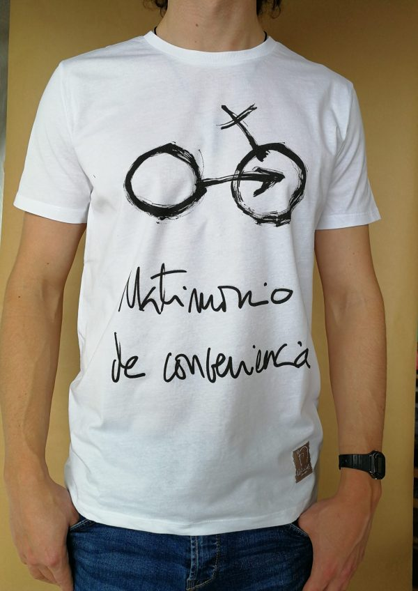 Camiseta Matrimonio de conveniencia color blanco hombre