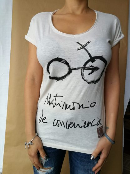 Camiseta Matrimonio de conveniencia mujer