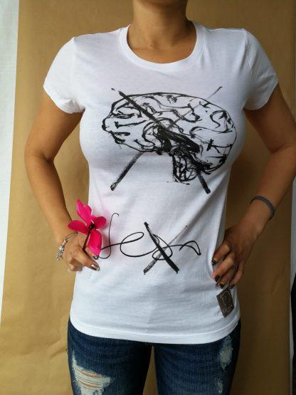 camiseta sexo cuello redondo mujer