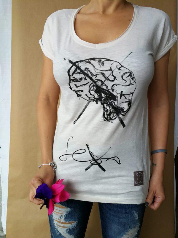 camiseta sexo cuello pico mujer
