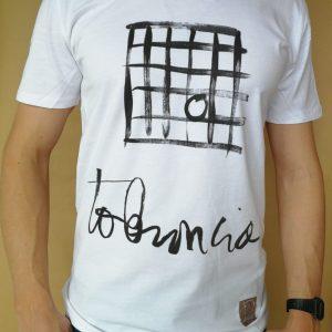 Camiseta Tolerancia manga corta color blanco hombre