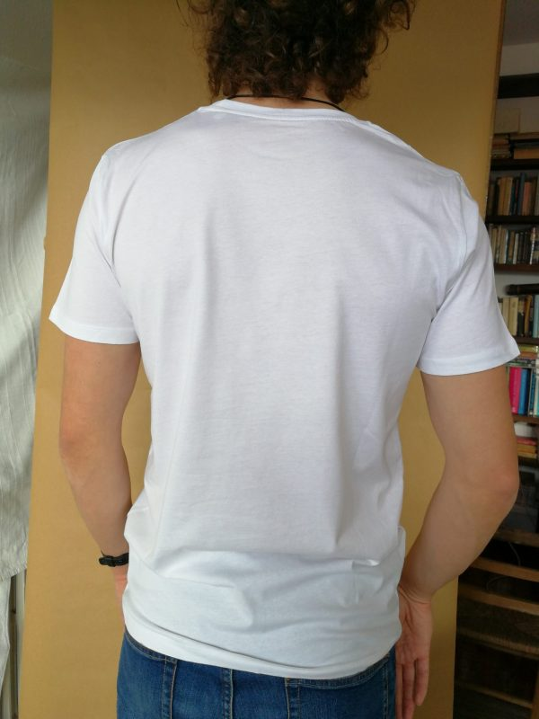 Camiseta Tolerancia manga corta color blanco hombre