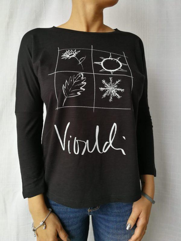 Camiseta Vivaldi manga larga negro