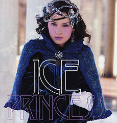 Ice Princess Picot-Trimmed Capelet