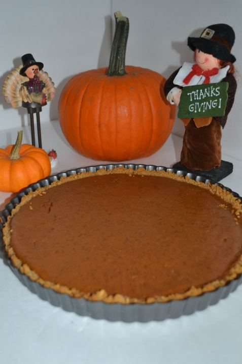 Pumpkin Tart with a Graham Cracker Crust   Delish D'Lites