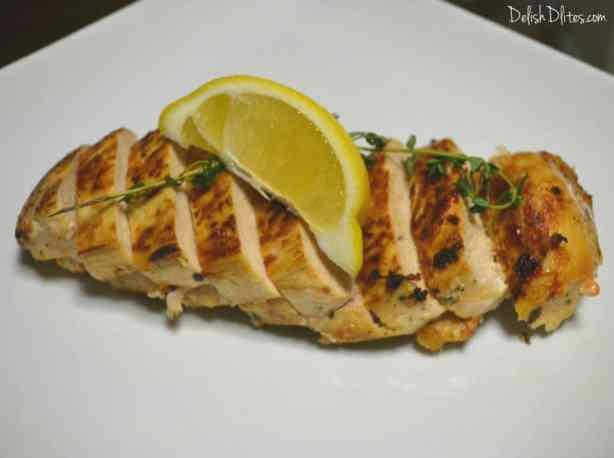 Garlic, Lemon & Thyme Roasted Chicken Breasts | Delish D'Lites