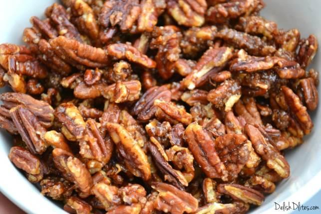 Cinnamon Sugar Candied Pecans   Delish D'Lites