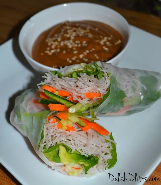 Vietnamese Style Spring/Summer Rolls | Delish D'Lites