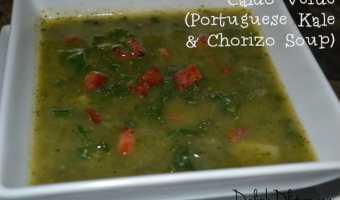 Caldo Verde (Portuguese Kale & Chorizo Soup)