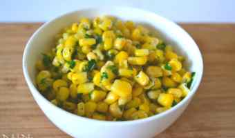 Buttery Garlic and Dill Corn