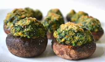 Spinach and Sausage Stuffed Mushrooms