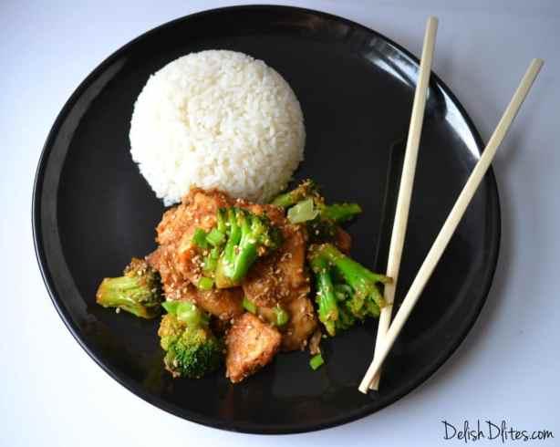 Guilt Free Sasame Chicken   Delish D'Lites