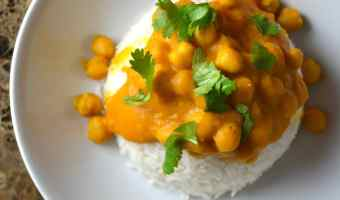 Kabocha Squash and Chickpea Curry