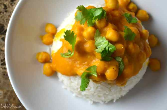 Kabocha Squash and Chickpea Curry | Delish D'Lites