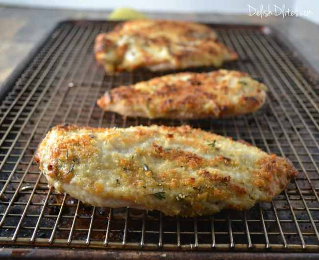 Parmesan Crusted Chicken | Delish D'Lites