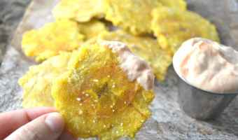 Tostones (Fried Plantains) with MayoKetchup