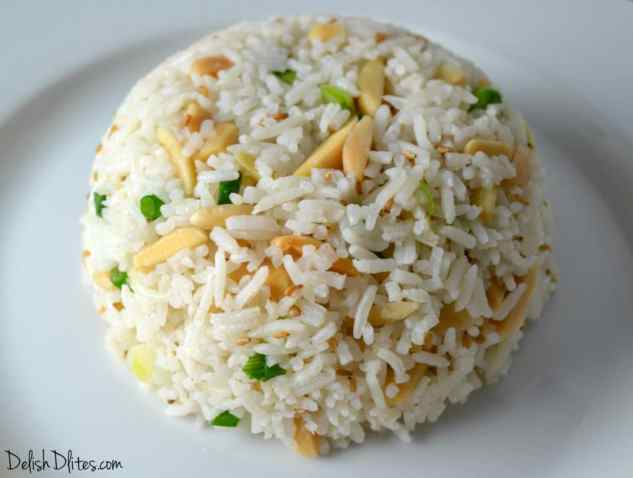 Toasted Almond-Scallion Rice   Delish D'Lites