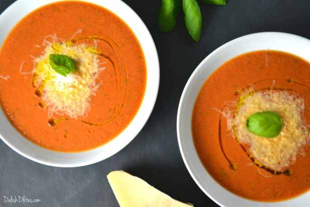 Creamy Tomato Basil Soup | Delish D'Lites