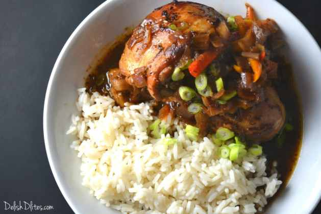 Jamaican Brown Stew Chicken | Delish D'Lites