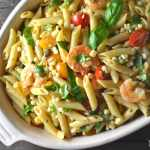 Roasted Shrimp and Sweet Corn Pasta Salad