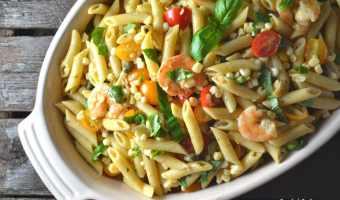 Roasted Shrimp and Sweet Corn Pasta Salad