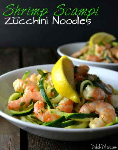 Shrimp Scampi with Zucchini Noodles | Delish D'Lites
