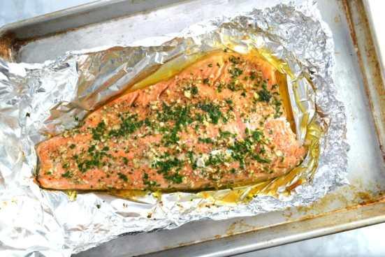 Garlic Butter Baked Steelhead Trout | Delish D'Lites