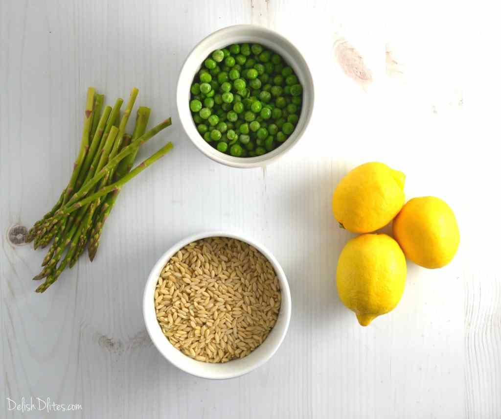 Spring Orzo Salad with Asparagus and Peas | Delish D'Lites