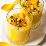 If you hate refined sugar as much as I do but still want to enjoy desserts, this thick, easy to make refined sugar free Kesar Pista Mango Lassi is just for you!