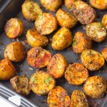 Crispy Spicy Cajun Roasted Potatoes recipe after coming out of the oven
