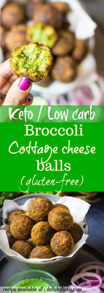 keto broccoli cottage cheese balls (low carb) for pinterest