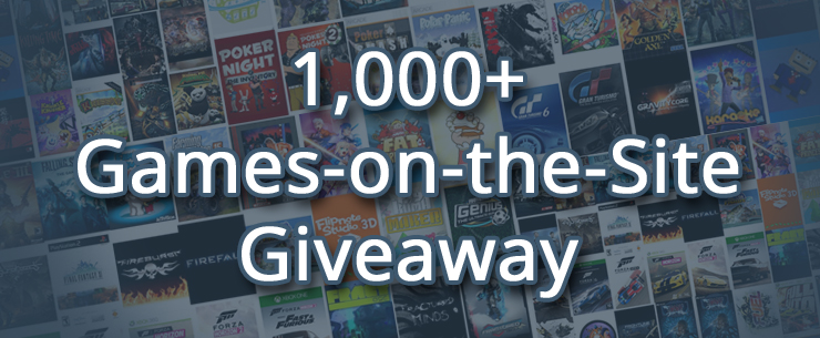 There are over 1,000 games on the site, now win some!