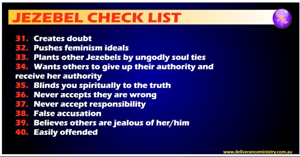 Jezebel Demon Traits