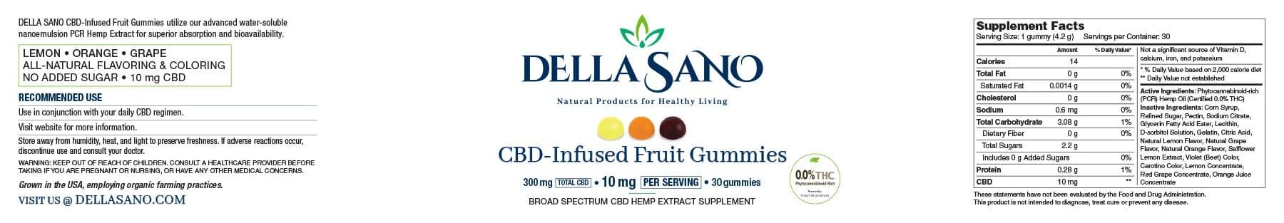 CBD-Infused Fruit Gummies