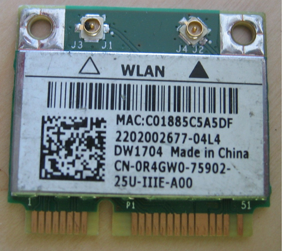 DELL WIRELESS 1708 BROADCOM WLAN DOWNLOAD DRIVERS