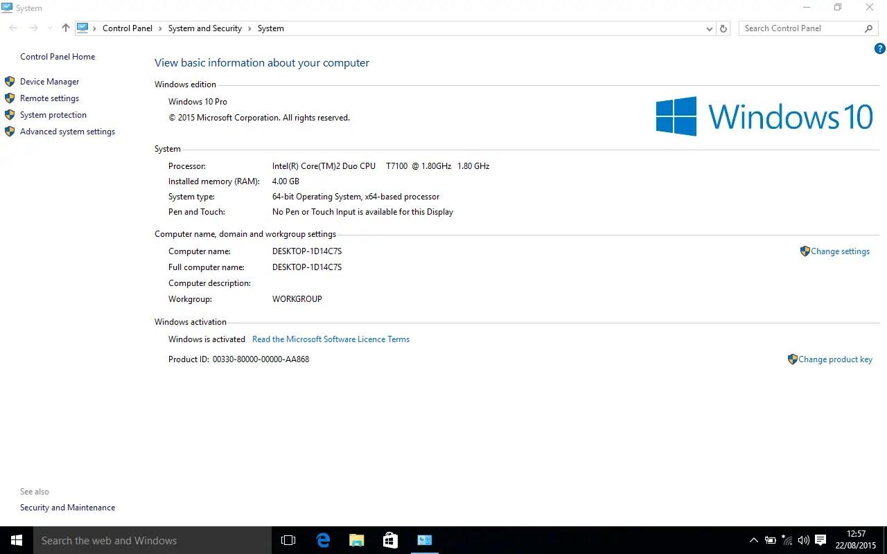 Latitude D630 - Windows 7 and 10 - Windows 10 Installation