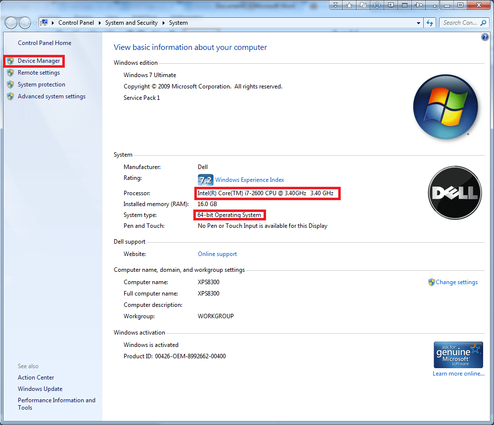 Checking Hardware IDs in the Device Manager in Windows XP
