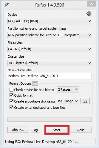 Fedora Bootable 5