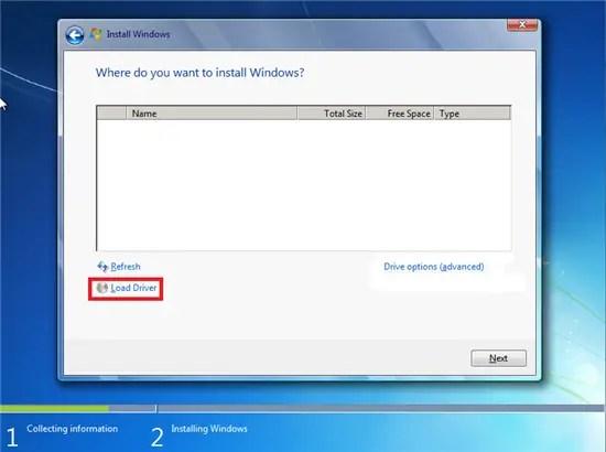 Downloading, Preparing and Loading SATA Drivers - Windows 10