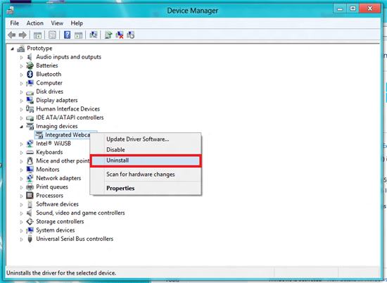 Uninstalling a Device in the Device Manager in Windows Vista, 7 and