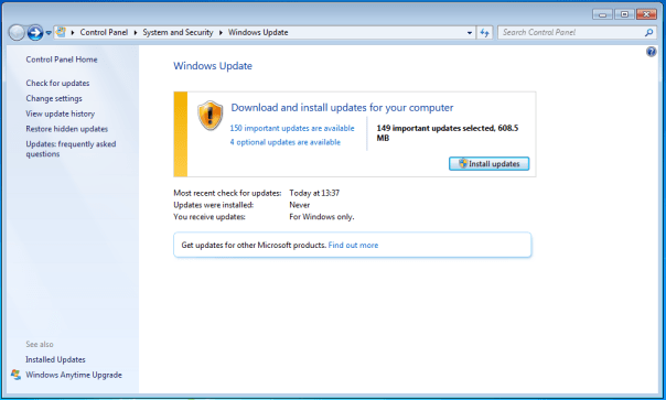 microsoft update windows 7 update