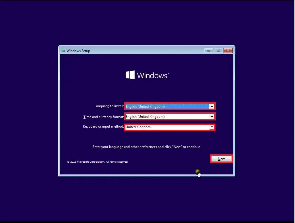 Windows 10 Version 1507: Clean Reinstallation via Bootable
