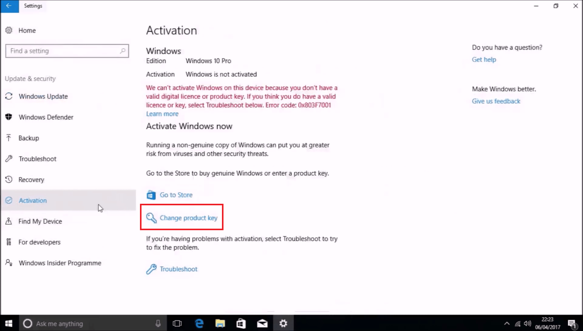 why does my computer ask me to activate windows