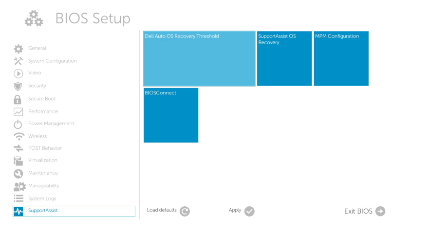 UEFI BIOS Setup - SMBIOS 3 0 (XPS 9365) - Windows 10