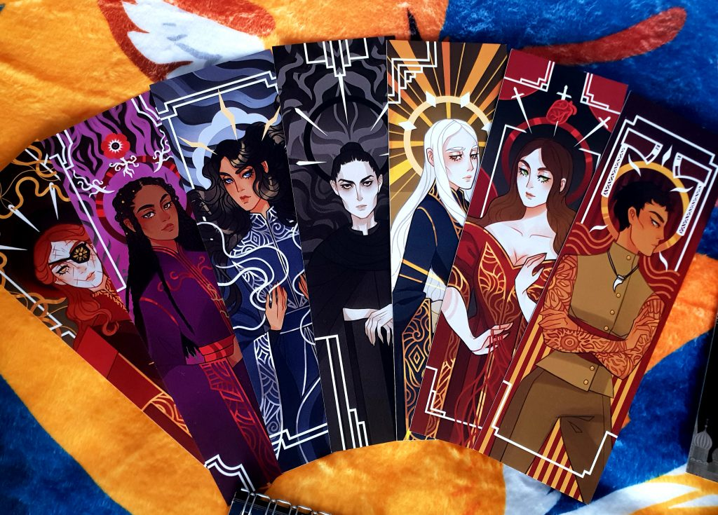 Bookmark Set Illumicrate Saints and Scars Box