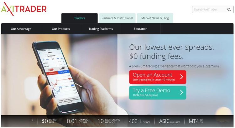axitrader 1024x559 - 8 of the Very Best Forex Brokers