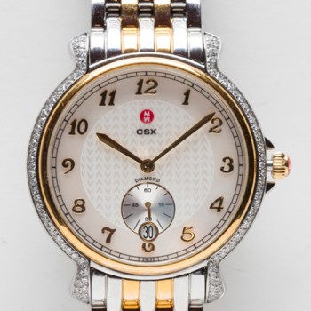 Michele Diamond Bezel Two Tone