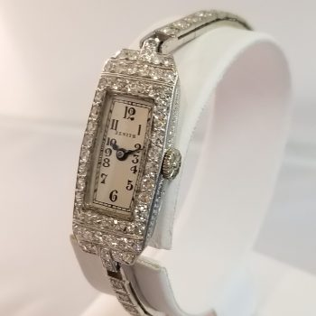 Zenith Vintage Ladies 1930 18k Diamond