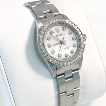 Rolex Ladies Mother Of Pearl Diamond Dial