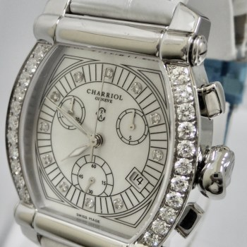 Charriol Genève Chronograph Diamond Bezel